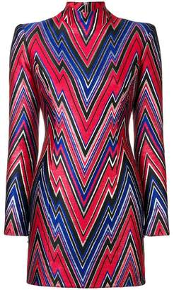 Balmain fitted printed short dress