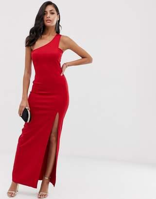 AX Paris strapless side split maxi dress