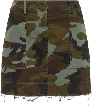 Nili Lotan Ilona Camouflage-Print Stretch-Cotton Mini Skirt