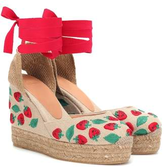 Castaner Carina embroidered wedge espadrilles
