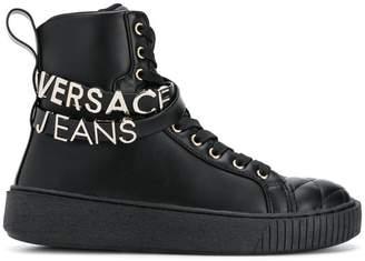 Versace quilted hi-top sneakers