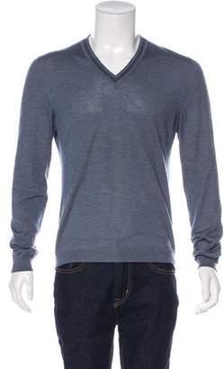 Gucci Cashmere & Silk-Blend V-Neck Sweater