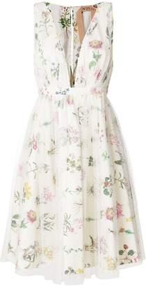 No.21 floral plunge neck dress