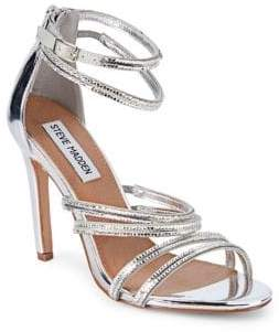 6b35812b779 Steve Madden Silver Open Toe Women s Sandals - ShopStyle