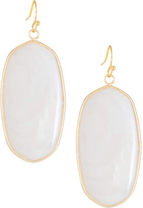 Panacea Mother-of-Pearl Oval Drop Earrings