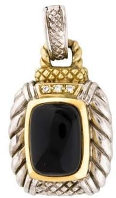 Judith Ripka Onyx & Diamond Enhancer Pendant silver Onyx & Diamond Enhancer Pendant