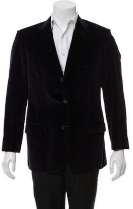 Valentino Woven Three-Button Blazer