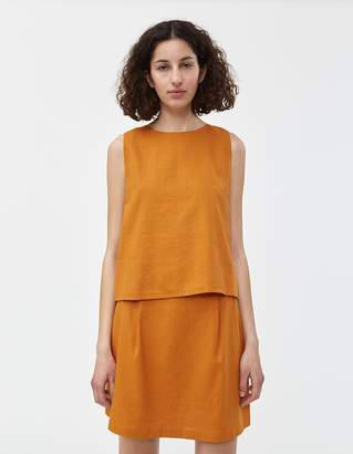 Shein Need Top in Rust Linen
