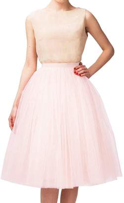 at Amazon Canada · CoutureBridal Tutu Tulle Midi Skirts A Line Tea Length  Prom Petticoat Ballet Skirt 3a27747edc