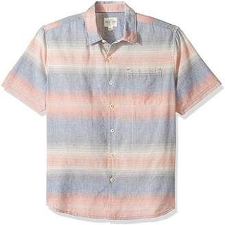 True Grit Men's Hombre Stripes Short Sleeve One Pocket Shirt