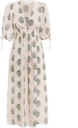 Zimmermann Verity Shirred Waist Dress