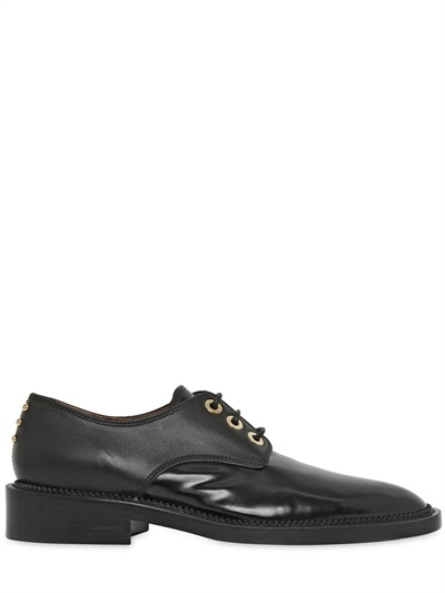 Givenchy 20mm Brushed Calf Leather Lace-Up Shoes
