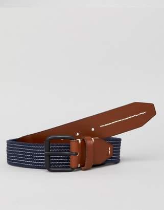 Jack and Jones Navy Woven Belt