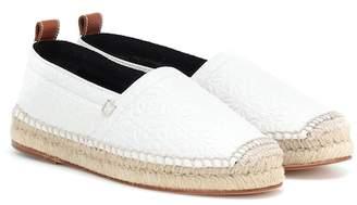 Loewe Embossed leather espadrilles