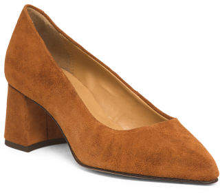 Made In Europe Suede Pointy Toe Pumps
