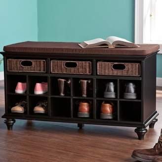 "Co Darby Home 21.75"" Traditional 6 Pair Shoe Storage Bench"