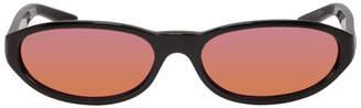Balenciaga Black Round Neo Sunglasses