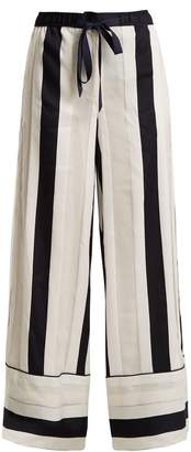 ADAM by Adam Lippes Striped-jacquard trousers