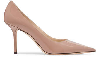 Jimmy Choo Love 85 Patent-leather Pumps - Beige