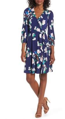 Eliza J Floral Faux Wrap Dress