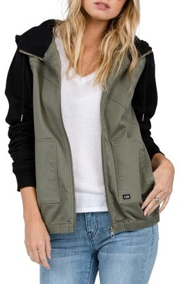 Women's Volcom Frochickie Hooded Jacket $75 thestylecure.com
