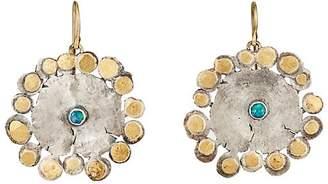 Judy Geib Women's Flowery Drop Earrings