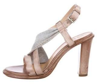 Brunello Cucinelli Embellished Ankle Strap Sandals