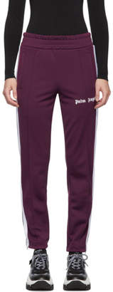 Palm Angels Purple and White Slim Lounge Pants