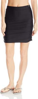 Next Women's Good Karma On The Go Skirt Bikini Bottom Swimsuit, Black