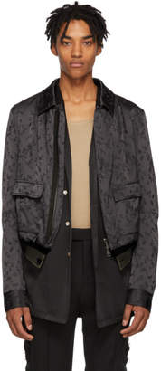 Haider Ackermann Grey Embroidered Gaura Jacket