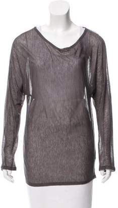 L'Agence Crew Neck Long Sleeve Top