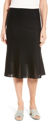 Ming Wang Knit Flared Skirt