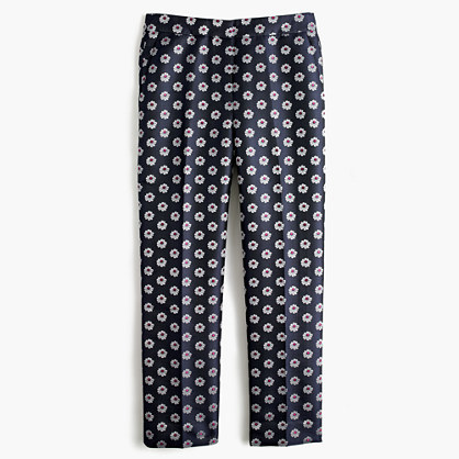 J.Crew Patio pant in scattered daisy