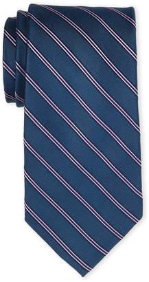 MICHAEL Michael Kors Navy & Purple Stripe Silk Tie