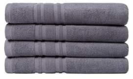 Melange Home Anthracite Turkish Cotton Bath Towels- Set of 4