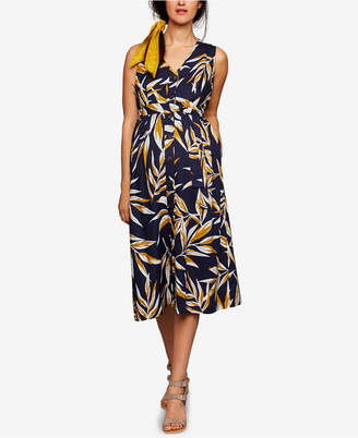 A Pea in the Pod Maternity Button-Front Midi Dress