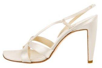 Vera Wang Satin Slingback Sandals