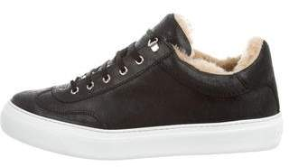 Jimmy Choo Shearling Low-Top Sneakers w/ Tags