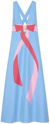 Gucci Wool Silk Dress With Bow Intarsia