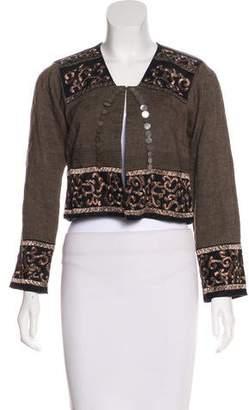 Dries Van Noten Linen Embroidered Jacket