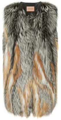 Yves Salomon contrast gilet jacket