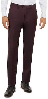 Ted Baker Kubratt Debonair Semi-Plain Slim Fit Wool Trousers