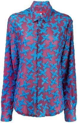Eckhaus Latta floral detail shirt