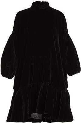 DAY Birger et Mikkelsen CECILIE BAHNSEN Belle velvet ruffled high-neck dress