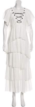 Sonia Rykiel Ruffled Crepe Dress