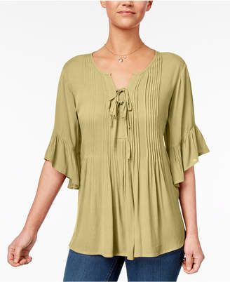 Style&Co. Style & Co Petite Pintucked Peasant Top, Created for Macy's