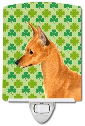 MiN New York Caroline's Treasures Pin St. Patrick's Day Portrait Ceramic Night Light