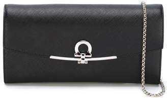 Salvatore Ferragamo Gancio flap clutch