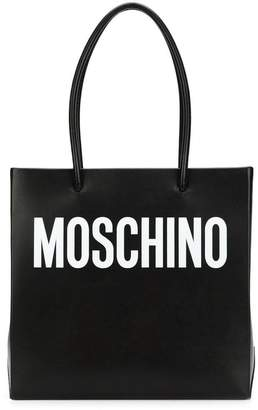 Moschino square logo shopper tote