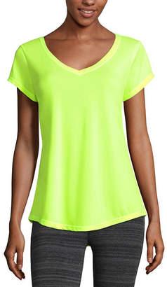 Xersion-Womens V Neck Short Sleeve T-Shirt